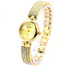 Đồng hồ nữ dây thép không gỉ TIGER N06 (Vàng) - Giá 149.000đ