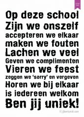 Poster 101 manieren - Jij bent uniek Quotes To Live By, Life Quotes, Learn Dutch, Leadership, I Love School, School Posters, School Quotes, One Liner, School Hacks