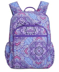 Get set for the best school year ever with Vera Bradleys punchy-hued backpack crafted in lightweight signature quilted cotton. Backpack Craft, Backpack Bags, Signature Quilts, Cute Backpacks, College Backpacks, Gucci Purses, Cute Bags, Vera Bradley Backpack, Handbag Accessories