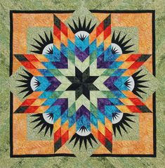 Summer Solstice ~ Quiltworx.com, made by Certified Instructor, Tammy Deshayes