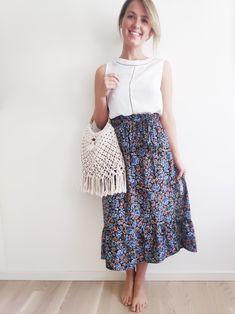 Gypsy Style, Bohemian Style, Handmade Skirts, Macrame Design, Minimalist Fashion, Diy Fashion, Spring Summer Fashion, Midi Skirt, Summer Outfits