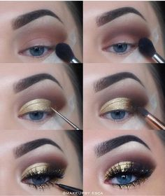 eyeshadow lipstick revolution 144 eyeshadow palette 2017 makeup case for makeup eyeshadow makeup stamp makeup dark skin makeup with eyeshadow makeup tutorial natural look Makeup Eye Looks, Eye Makeup Steps, Love Makeup, Makeup Inspo, Makeup Inspiration, Beauty Makeup, Makeup Ideas, Makeup Tutorials, 80s Makeup
