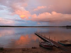 """Sunset view from """"our"""" community dock, Arbutus Beach, Gaylord, MI; Image result for otsego lake, michigan from Bing.com"""