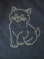 diamante crystal cat kitten cotton tote bag diamonte  design bling
