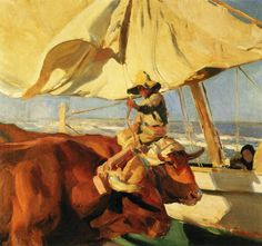 Learn more about Afternoon Sun, Playa de Valencia Joaquin Sorolla y Bastida - oil artwork, painted by one of the most celebrated masters in the history of art. Claude Monet, Spanish Painters, Spanish Artists, Impressionist Paintings, Landscape Paintings, Valence, Oil Canvas, Art Database, Oeuvre D'art