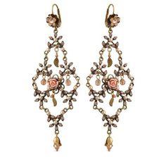 Setty Gallery - Michal Negrin Jewelry Crystal Rose Hook Bride Earrings, $190 (http://www.settygallery.com/michal-negrin/michal-negrin-jewelry-crystal-rose-hook-bride-earrings/)