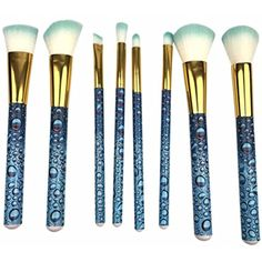 Nibito 8PC Three-Dimensional Water Makeup Brush Suit Tools Foundation Makeup Brush >>> Want additional info? Click on the image. (This is an affiliate link) #ToolsAccessories