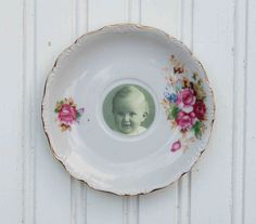 What a great idea for orphaned saucers!  May need to attempt this cute #photo-framing #craft ~ Blackbirds & Bumblebees: Vintage China Wall Art