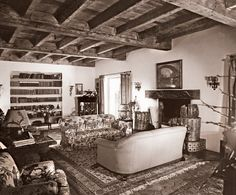 Bette Davis - the living room of her Beverly Hills house - circa 1930s