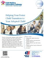 Helping Your Foster Child Transition to Your Adopted Child. #adoption #fostercare