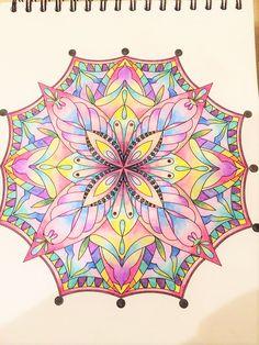 ColorIt Mandalas to Color Volume 1 Colorist: Dreya Beck #adultcoloring…