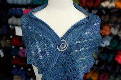 Tempest Shawlette by Tabetha Hedrick | malabrigo Sock in Azules colorway.