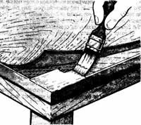 DIY wood furniture repair- easier than you think. This page details how to repair wood veneer that has been water damaged or otherwise damaged.