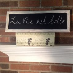 Chalk board frame vintage look cottage chic by FrenchCountryLove, $24.00