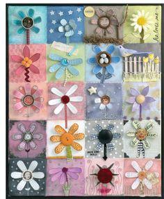 Yesterday's Trash Art 20 Funky Flowers