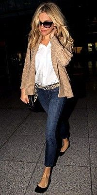 Travel outfit, Sienna Miller