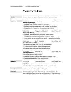 resume templates free for mac word