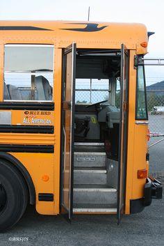 school bus door on a Blue Bird RE
