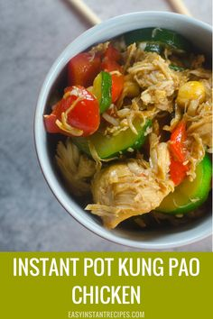 Save money and skip the Chinese takeout with this easy to make authentic Instant Pot Kung Pao Chicken recipe. Instant Pot Chinese Recipes, Best Instant Pot Recipe, Instant Recipes, Instant Pot Dinner Recipes, Healthy Grilled Chicken Recipes, Healthy Recipes, Healthy Food, Easy Stuffed Peppers, Pressure Cooking Recipes