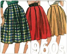 Circle Skirts: Vintage 60s Sewing Pattern, Pleated Skirt, Proportioned, Simplicity 4055 Misses Size 24 Waist 24, Complete, P-1479