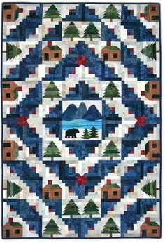 This my new quilt project = All the blocks are made except the center landscape.