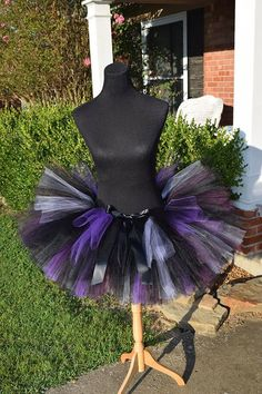 Adult Black Tutu with a mix of lavender purple and plum mixed