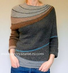 Ravelry: tma's m e s a pullover From Stephen West's Enchanted Mesa pattern -- I like this version much better! Knitting Designs, Knitting Projects, Vogue Knitting, Hand Knitting, Creation Couture, Knit Or Crochet, Crochet Fashion, Pulls, Ravelry