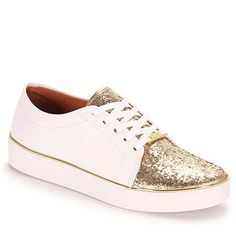 Tênis Casual Feminino Vizzano - Dourado(A) White Sneakers, Shoes Sneakers, Pretty Shoes, Types Of Shoes, Adidas Shoes, Wedding Shoes, Me Too Shoes, Shoe Boots, High Heels