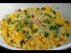 Roasted Corn with Lime and Parmesan .