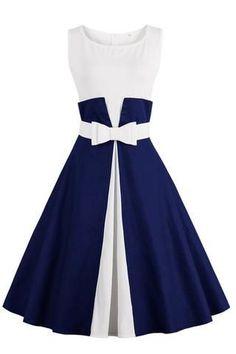 50's Style : Picture Description Chicloth One More Time Cute Bow Vintage Dress #vintagedresses https://looks.tn/style/50s/50s-style-chicloth-one-more-time-cute-bow-vintage-dress-vintagedresses/