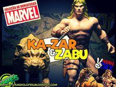 Miniaturas do Lopes!: Direto da Terra Selvagem: Ka-zar & Zabu!