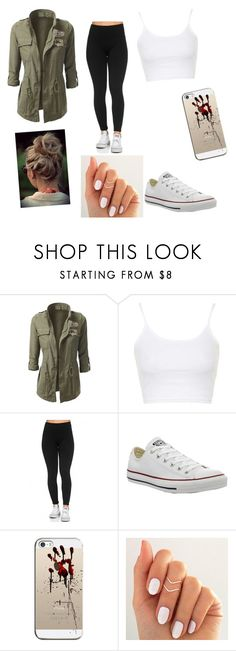 """luv this outfit"" by maryjsullivan ❤ liked on Polyvore featuring Topshop, Converse and Casetify"