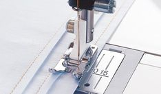 The Edge Stitching Foot guides topstitching and edge stitching perfectly. Stitch folded tucks accurately.