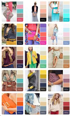 Style tips in 2019 colour combinations fashion, color combinations for Colour Combinations Fashion, Color Combinations For Clothes, Fashion Colours, Colorful Fashion, Color Combos, Color Wheel Fashion, Color Mixing Chart, Color Blocking Outfits, Wardrobe Color Guide