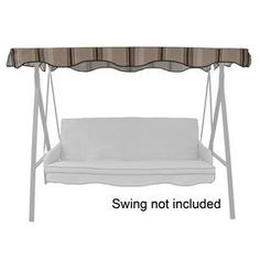 Garden Treasures Tan/brown Steel 3-person Replacement Top For Porch Swing Or…