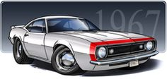 1967-68 Chevy Camaro illustration