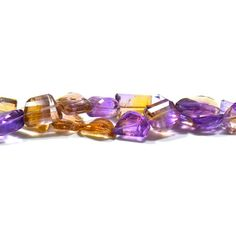 Get the best natural Ametrine gemstone beads from Brazilian Mines. Available in clear Faceted cut and Tumble shape. A single bead measures from 10mm-18mm to 17mm-21mm. These beads are natural, untreated & beautiful which allure you because it is mixture of Amethyst and Citrine. These beads contains golden energy which helps you to enhance your spiritual and mental aspects. It creates an energy force which help you to loss your weight and release your addictions.