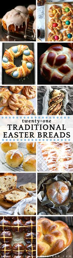 21 Traditional Easter Bread Recipes ~ because Easter isn't all eggs and bunnies. These beautiful Easter loaves come from all over the globe, each bringing their particular spin on a celebratory spring bake.