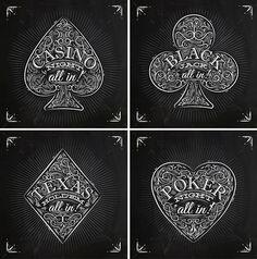 Casino Signs chalk