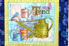 Quilted Garden Wall Hanging Bluebird Wall Hanging by twistedsticks, $21.00