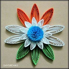 Paper Quill Flower of Indian Flag
