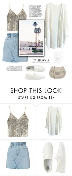 """""""Californian days"""" by little-vogue ❤ liked on Polyvore featuring Alice + Olivia, RE/DONE, INDIE HAIR, Uniqlo, Chiara P, cool, polyvorecommunity and fashionset"""