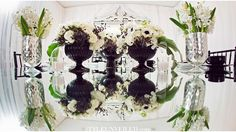 Tic Tock Couture Florals - If These Petals Could Talk - Black & White Inspiration with Kat Minassi Events andDesign