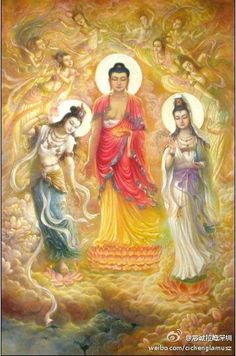 BUDDHA DHARMA - Buddhism Nepal Meaning of --- Buddham saranam gacchami Dhammam saranam gacchami Sangham saranam gacchami Amitabha Buddha, Gautama Buddha, Buddha Buddhism, Tibetan Buddhism, Art Buddha, Buddha Kunst, Buddha Painting, Diy Image, Tibet Art