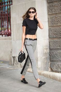 Kaia Gerber Shows Us An Off-Duty Take On Business Casual