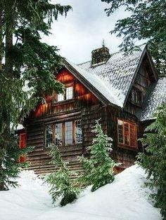 Дом в лесу: дом, красивый, заснеженный, деревянный, прочный, теплый, уютный... В лесу!