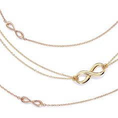 Tiffany Infinity Rose Gold and 18ct Gold Necklaces & Pendants