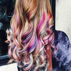 peek a boo hair color ideas - Google Search