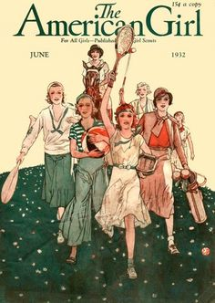 'American Girl' magazine covers, 1930s