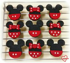 Loving Creations for You: Mickey & Minnie Mouse Cookies (with minimal artifi...